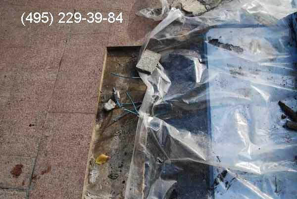 Обрыв нагревательного кабеля на уличной площадке