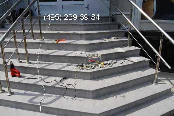 Поиск повреждения греющего кабеля на уличной лестнице